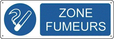 Panneau Zone Fumeurs