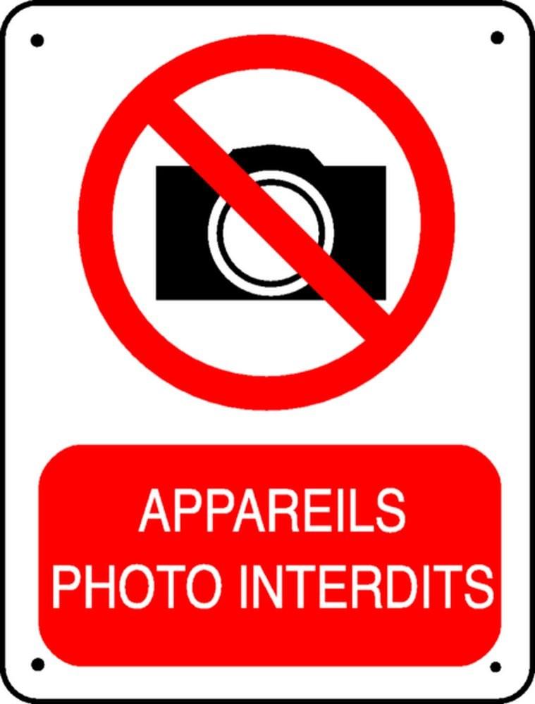 Panneau Appareils Photo Interdits