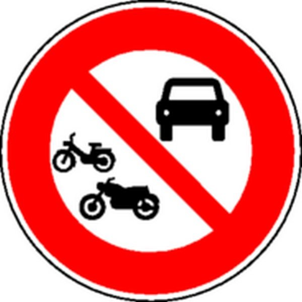 Panneau Circulation interdite véhicules à moteur Classe 2