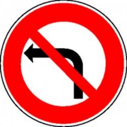 Panneau Défense de tournerà gauche (avec pied) Classe T1
