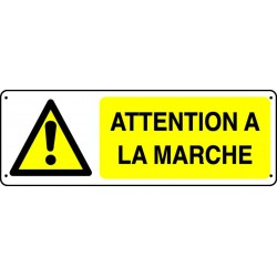 Panneau Attention à la Marche