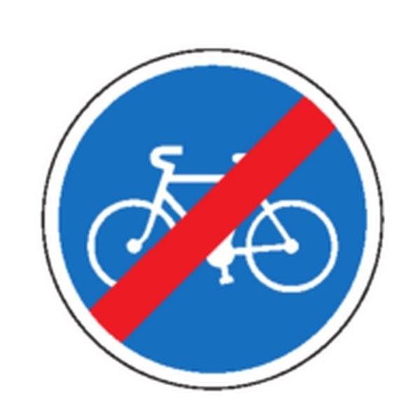 Panneau Fin de piste cyclable Classe 2