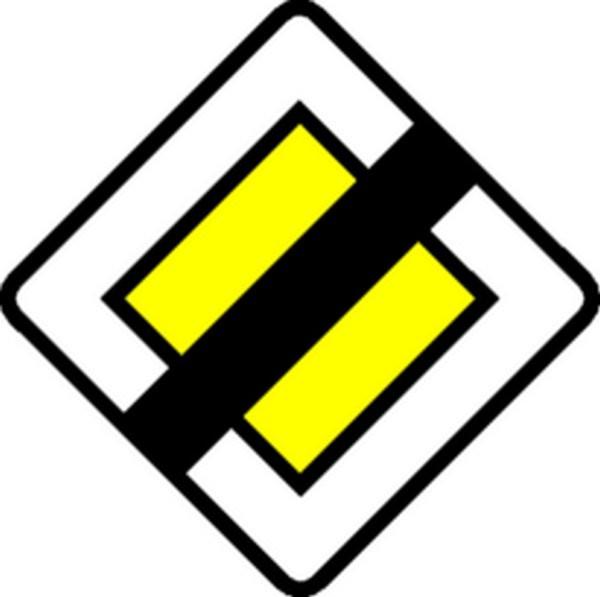 Panneau Fin de Route prioritaire Classe 1