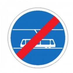 Panneau Fin de Tramway obligatoire Classe 1