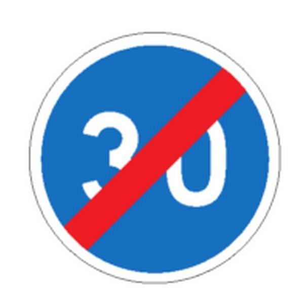 Panneau Fin de vitesse minimale obligatoire Classe 2