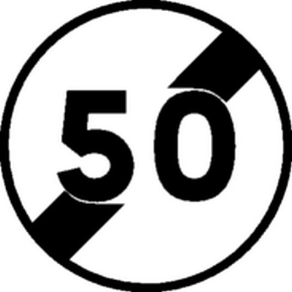 Panneau Fin de limitation de vitesse Classe 1