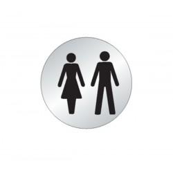 Plaque Homme/Femme Toilettes Picto (inox)
