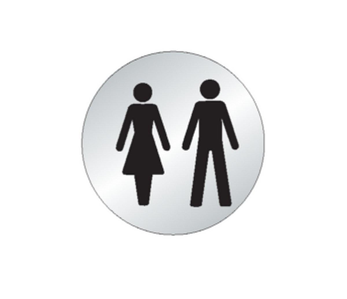 Plaque Homme/Femme Toilettes Picto