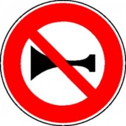 Panneau Interdiction de klaxonner Classe 1