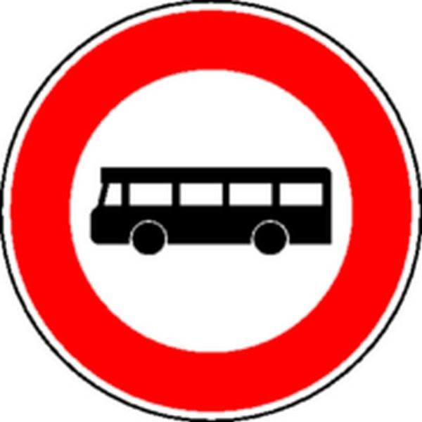 Panneau Interdit aux autobus Classe 1
