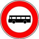 Panneau Interdit aux autobus Classe 2