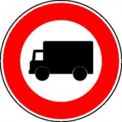 Panneau Interdit aux camions Classe 2