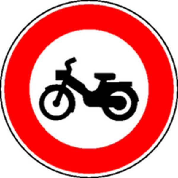 Panneau Interdit aux cyclomoteurs Classe 1