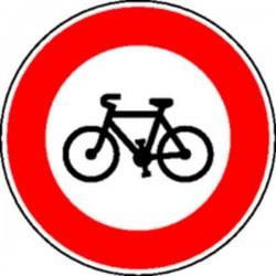 Panneau Interdit aux vélos Classe 2
