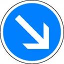Panneau Obligation de passer à droite Classe1