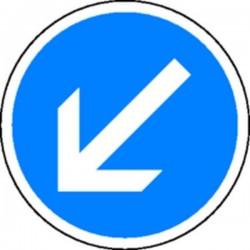Panneau Obligation de passer à gauche Temporaire