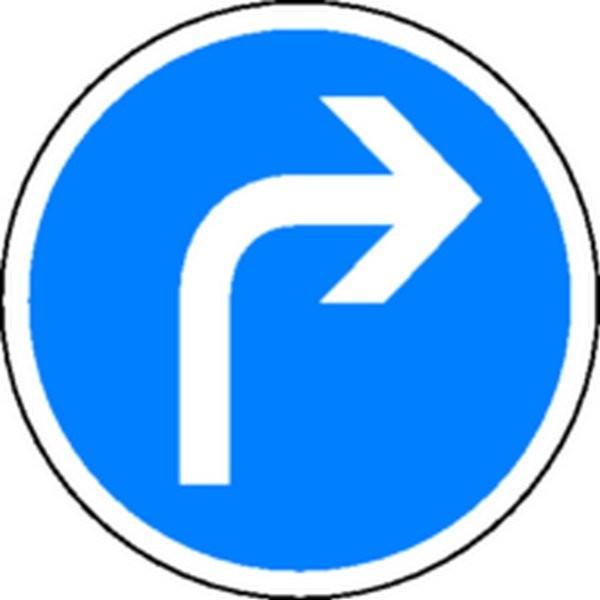 Panneau Obligation de tourner à droite Classe1