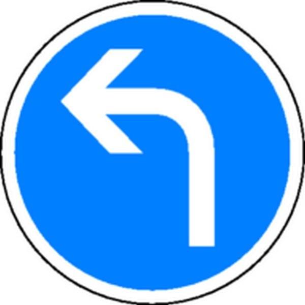 Panneau Obligation de tourner à gauche Classe1