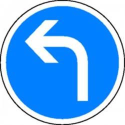 Panneau Obligation de tourner à gauche Classe 2