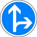 Obligation de tourner à droite ou tout droit Classe2 Ø450mm