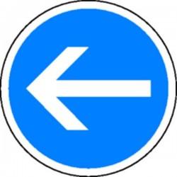 Panneau Obligation de tourner à gauche Classe 1