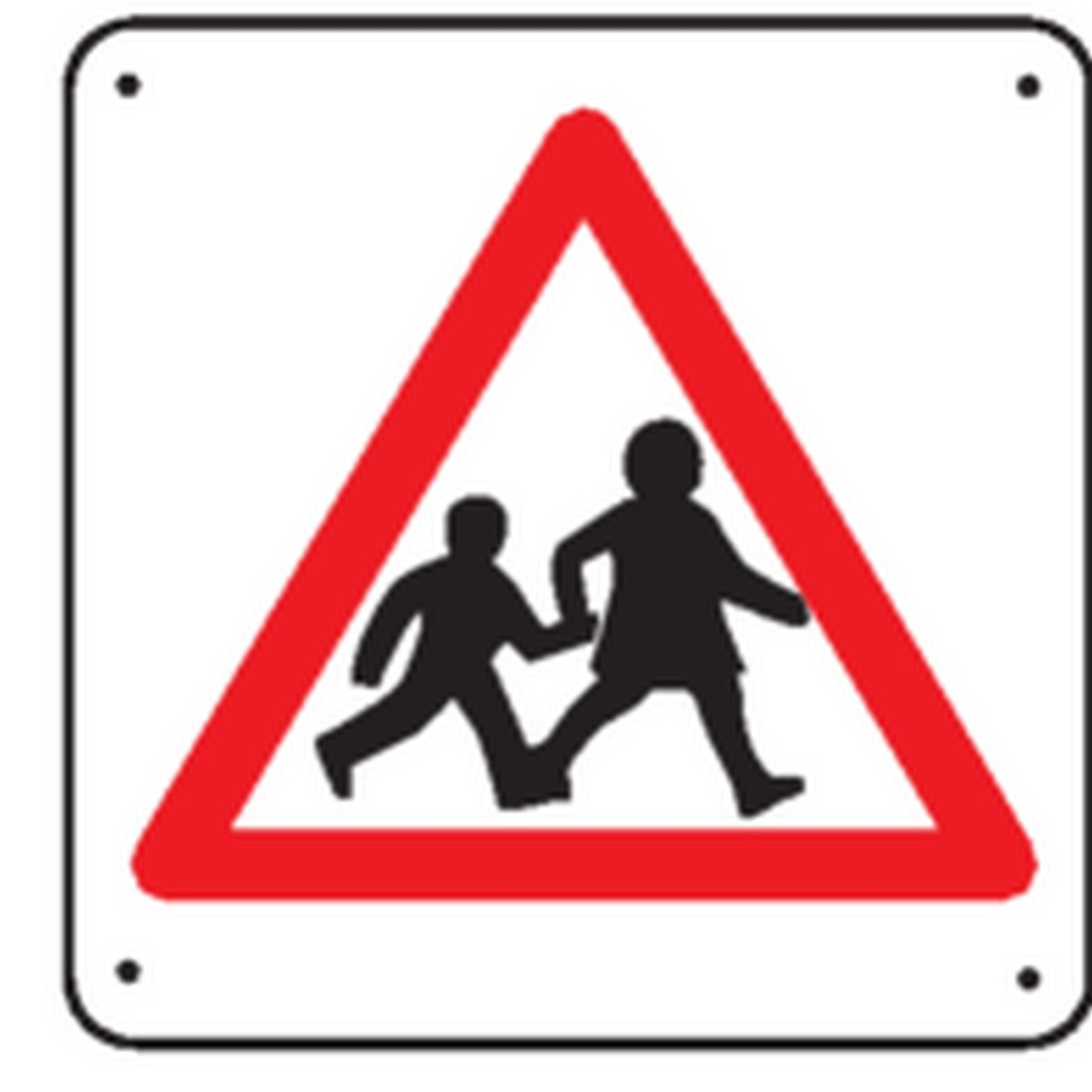 Panneau Attention Passage Enfants Renforcé pour poteau