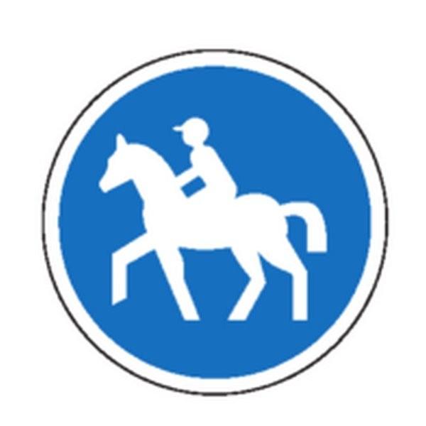 Panneau Chemin obligatoire pour cavaliers Classe 1