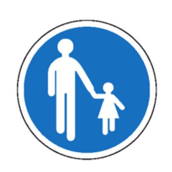 Panneau Chemin obligatoire pour piétons Classe 1