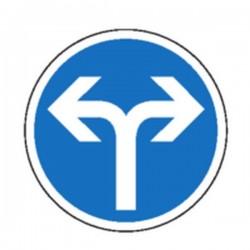 Panneau Obligatoire de tourner à droite ou à gauche Classe 1