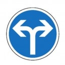 Obligatoire de tourner à droite ou à gauche Classe 2 Ø450mm