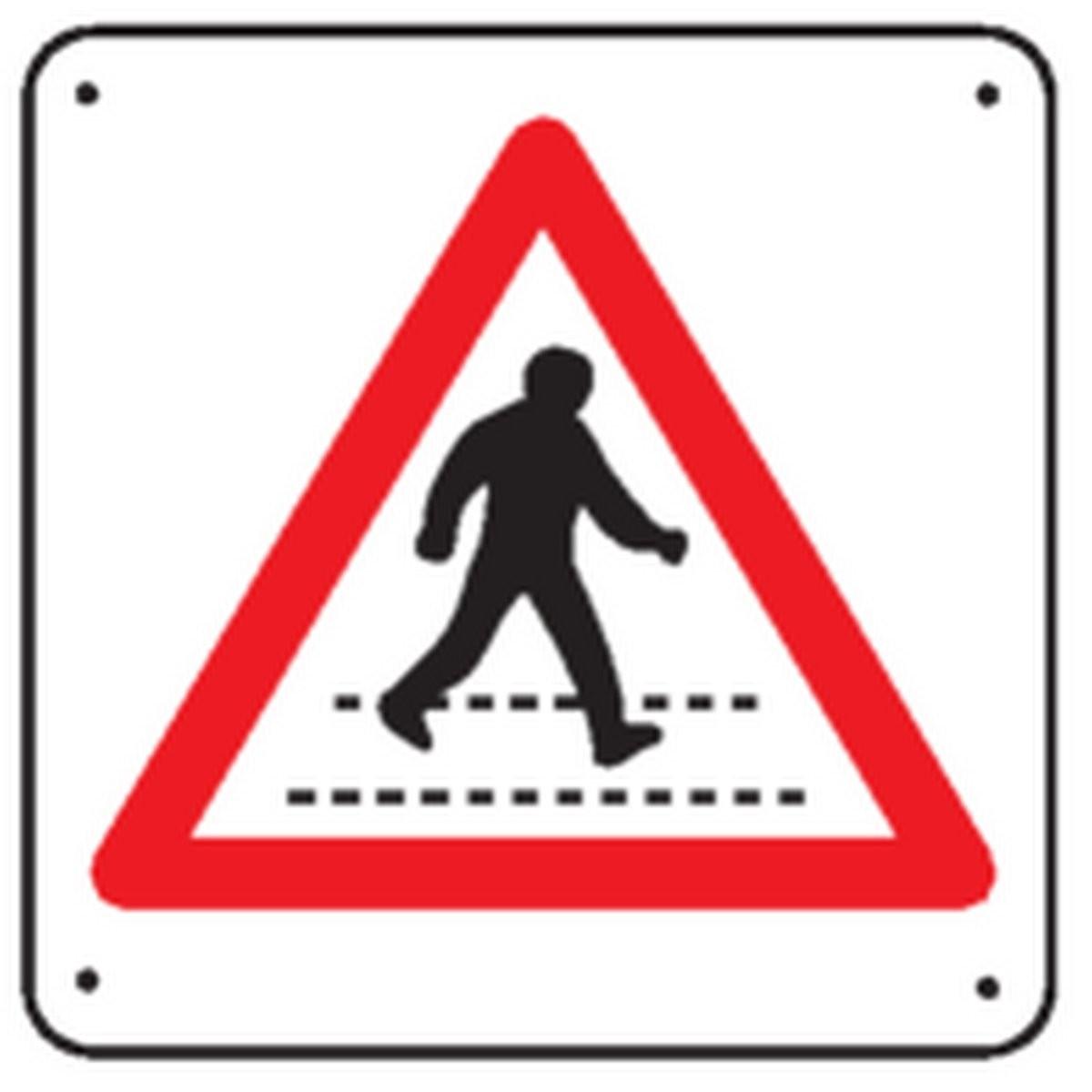 Panneau Attention Passage Piétons Renforcé pour poteau