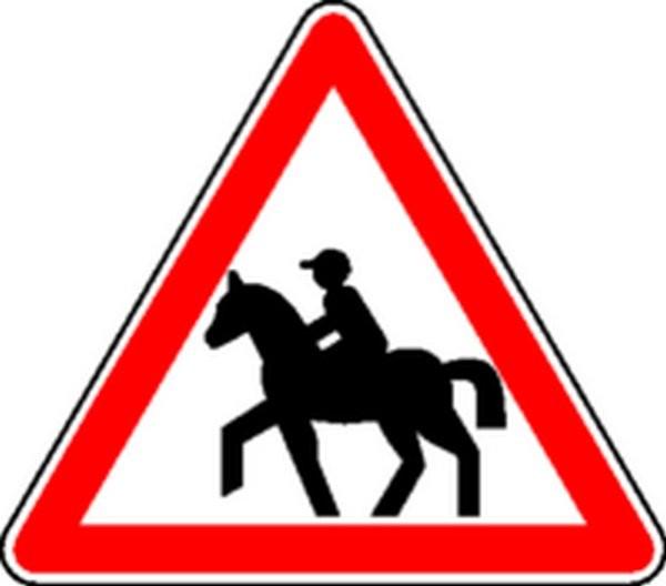 Panneau Passage de cavaliers Classe 1