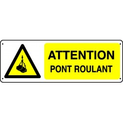Panneau Attention pont roulant