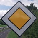 Panneau Route prioritaire Classe 1