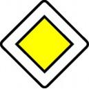 Panneau Route prioritaire Classe 2