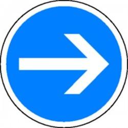 Panneau Obligation de tourner à droite Classe 1
