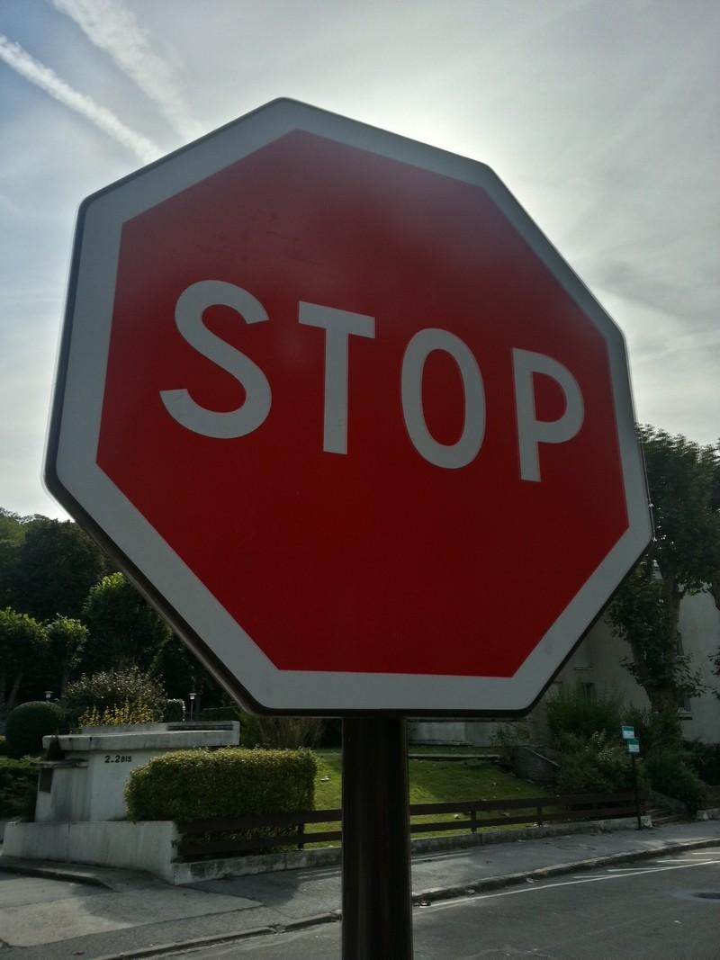 Panneau Stop Classe 2
