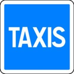 Panneau Taxis Classe 2