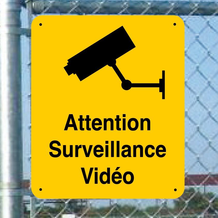 Panneau de prévention : attention surveillance vidéo