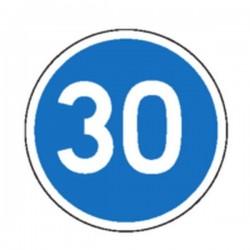 Panneau Vitesse minimale obligatoire Classe 2