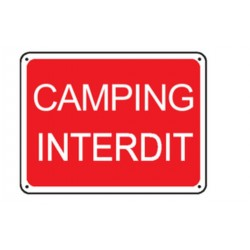 Panneau Camping interdit
