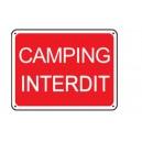 Panneau Camping interdit Renforcé pour poteau