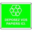Déposez vos papiers ici
