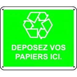 Panneau Déposez vos papiers ici