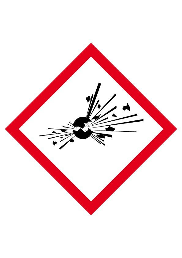 Etiquette Matières explosives Velin adhésif