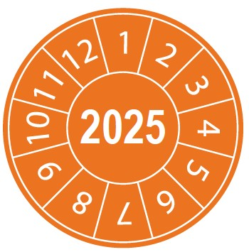 Pastille calendrier 2025