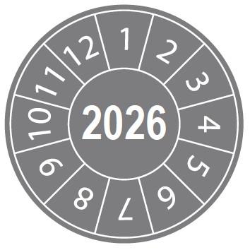 Pastille calendrier 2026