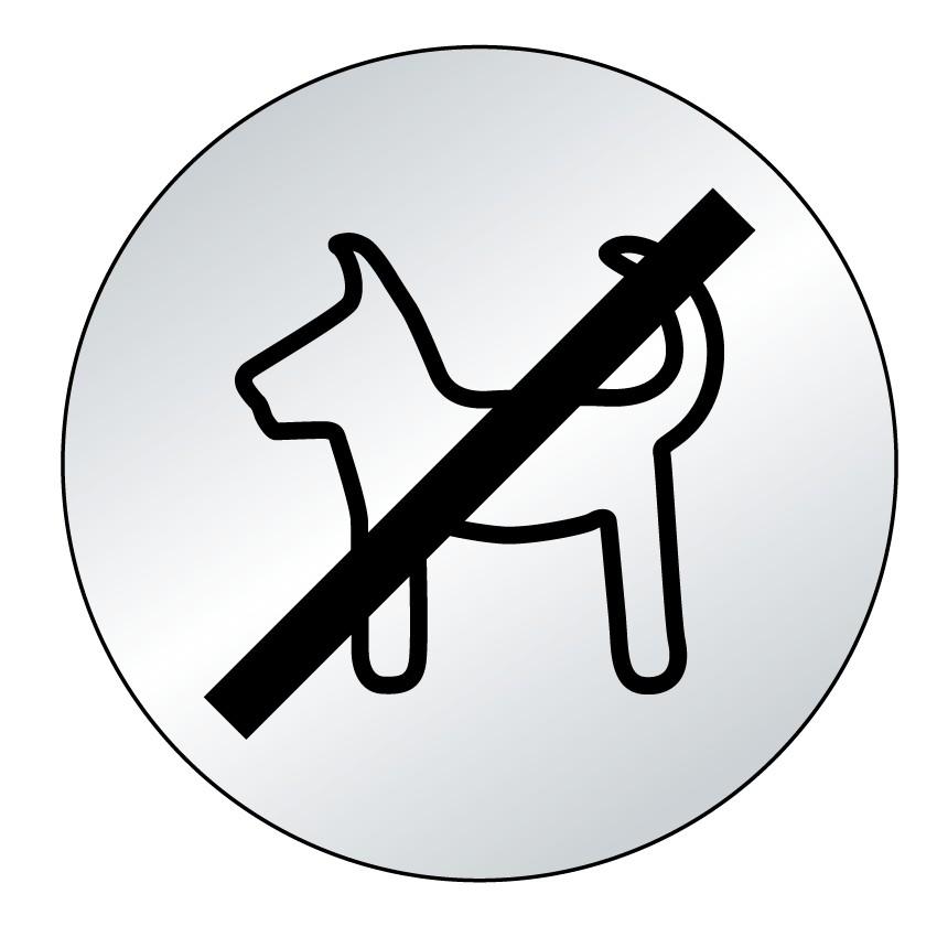 Plaque Picto chien interdit (lnox)