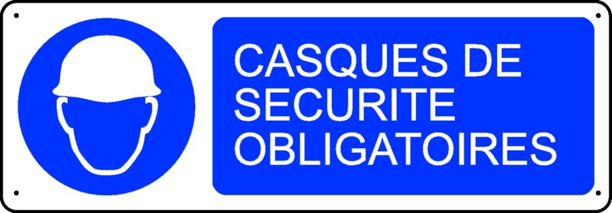 Panneau Casques de Sécurité Obligatoires