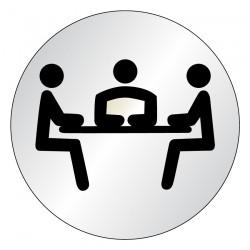 Plaque Salle de réunion Picto (lnox)